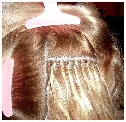 Капсульное наращивание волос